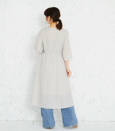 バックスタイル 授乳服 カシュクールワンピース グレー 164㎝