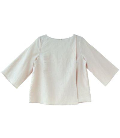 ピンク:柔らかなやさしいピンク 授乳服 コットンリネンプルオーバー