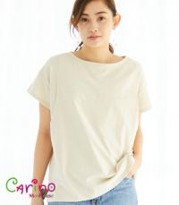 CARINO ベーシックT(半袖) 日本製【授乳服・マタニティウェア・授乳ブラ】
