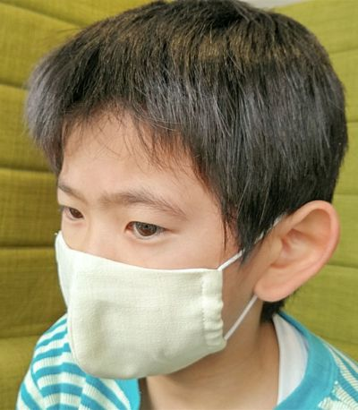 【抗ウィルス】境町さしま茶染め生地の手づくりマスクキット(3~4枚分)