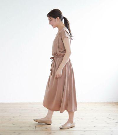 《試着OK》スムースリボンワンピース 授乳服 日本製