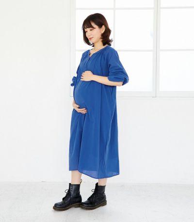 《試着OK》カフタンワンピース 授乳服 マタニティ服 日本製