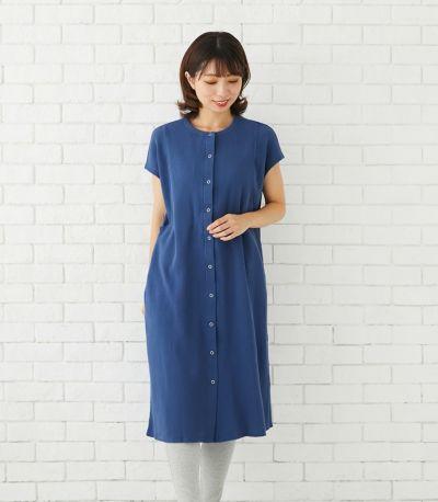 マタニティパジャマワンピース 授乳服 マタニティ服 日本製