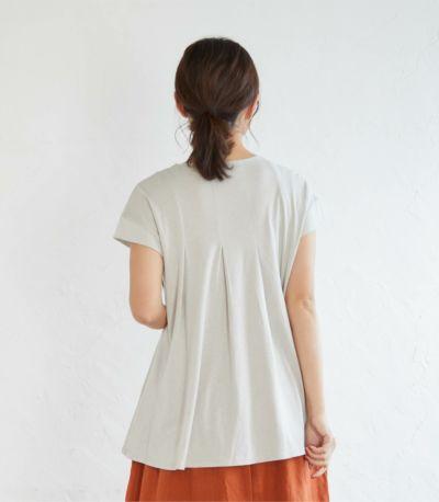 《試着OK》タックフレアーカットソー 授乳服 マタニティ服 日本製