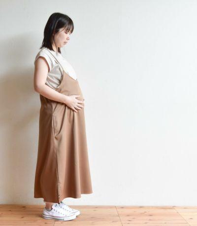 《試着OK》Tシャツ付きキャミワンピース 授乳服 マタニティ服 日本製