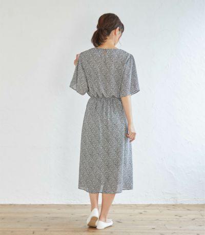 《試着OK》フラワーリーフワンピース 授乳服 マタニティ服 日本製