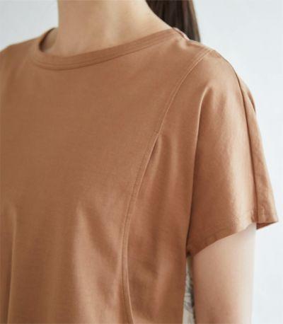 《試着OK》<新色>バックプリントTワンピース 授乳服 マタニティ服 日本製